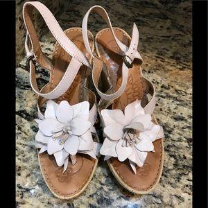 BORN Wedge Miss Flower Platform Sandal